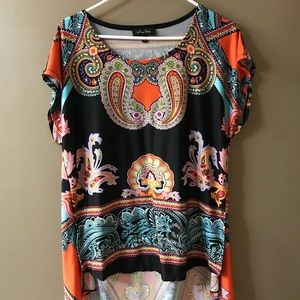 Tops - Multi Color High Low Blouse